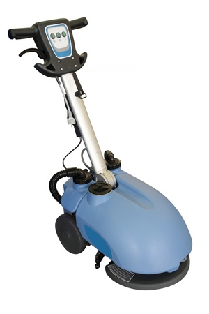 polisher: floor buffing machine under the white background