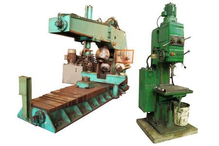 fabrication: The image of big squeezing machine under the white background