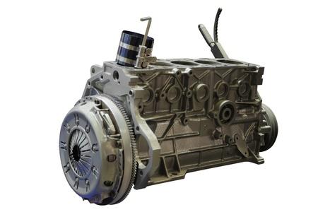 The image of an engine under the white background Stock Photo - 10496863