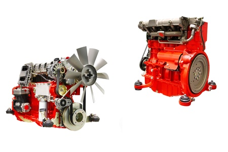 The image of an engine under the white background Stock Photo - 10496868