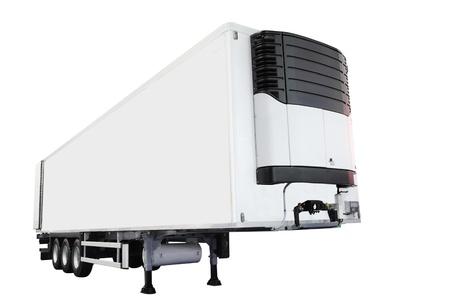 semitrailer: The image of semitrailer isolated under the white background