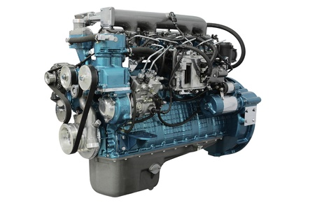 truck engine: The image of an engine under the white background