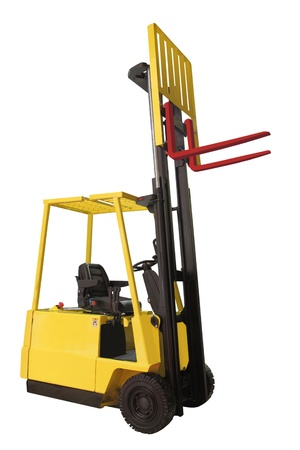 The image of loader under the white background photo