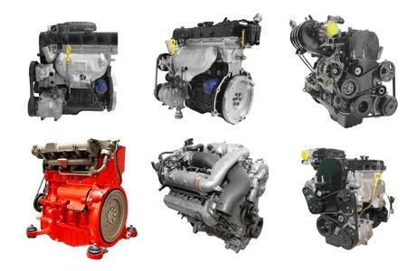 L'immagine dei motori sotto lo sfondo bianco