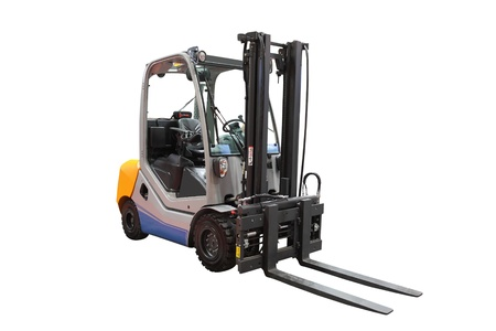 pallet truck: The image of loader under the white background