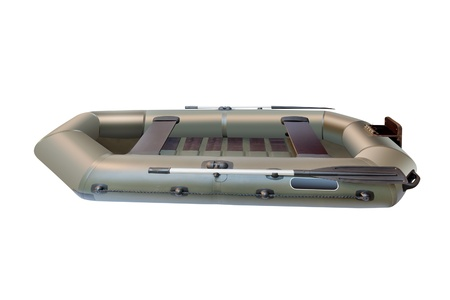The image of a fishing rubber boat photo