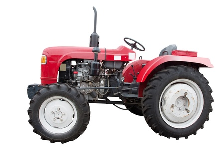 The image of a small tractor without roof