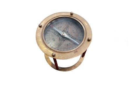 The image of compass under the white background Stock Photo - 11026324