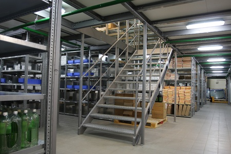 The image of shelfs in the warehouse Stock Photo - 11026323