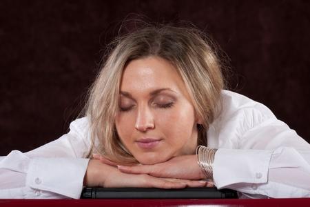 The image of sleeping secretary Stock Photo - 12127240