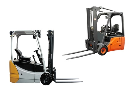 The image of loaders under the white background photo
