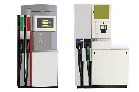Image of petrol pump under the white background photo