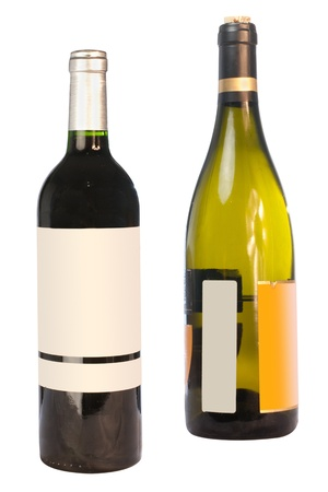 The image of wine bottle under the white background photo