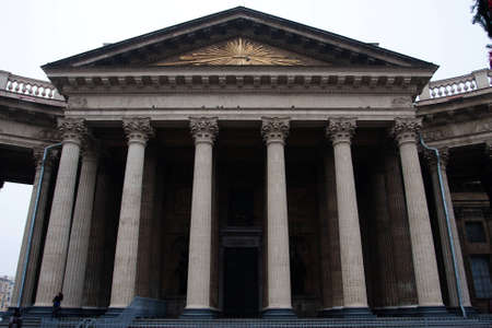 Facade of Kazan Cathedral in St. Petersburg, Russia