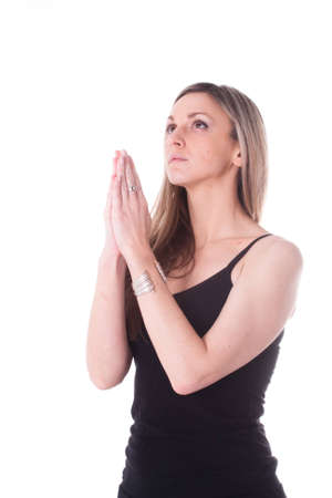 The image of praying girl Stock Photo - 12760390