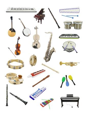 xylophone: La imagen de instrumentos musicales bajo el fondo blanco Foto de archivo