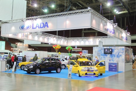 St. Petersburg, RUSSIA - APRIL, 5: Annual exhibition, Automobile world-2012, April, 5, 2012 in St.Petersburg, Russia.