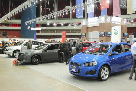 St. Petersburg, RUSSIA - APRIL, 5: Annual exhibition, Automobile world-2012, April, 5, 2012 in St.Petersburg, Russia. Editorial