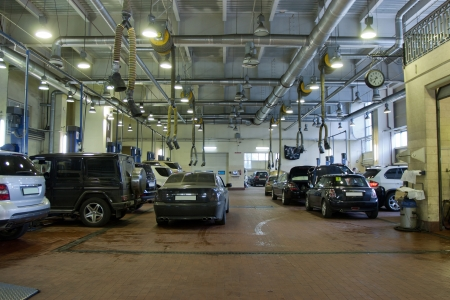 Interior of a repair garage Stock Photo - 13796068