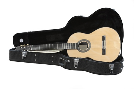 The image of acoustic guitar in a case Stock Photo - 13815982