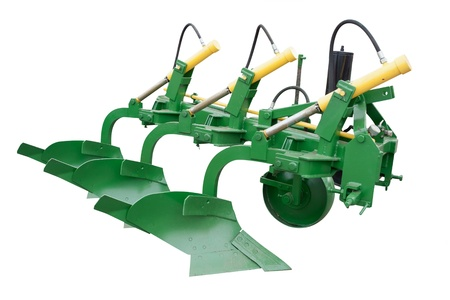 plough machine: The image of plow under the white background
