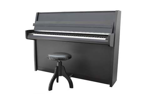 The image of a piano under the white background photo