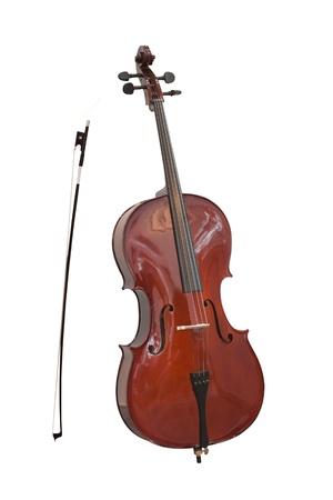 cello: violoncello isolato sotto lo sfondo bianco