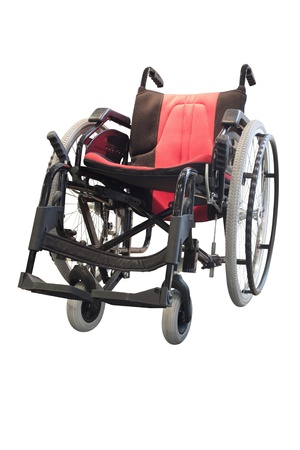 wheelchair isolated under the white background photo