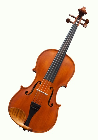violins under the white background photo