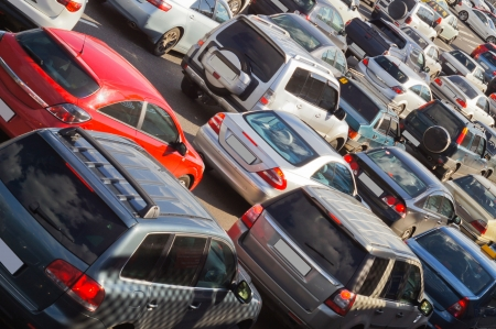 traffic jam in Moscow  Stock Photo