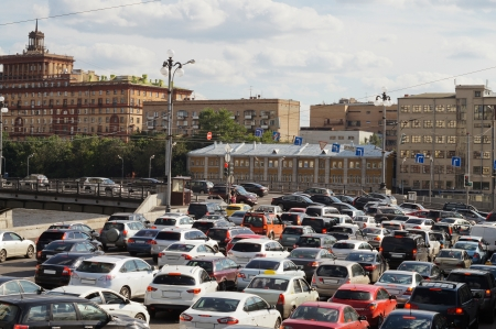traffic jam in Moscow photo