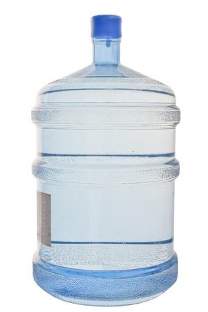 Full cooler bottle under the white background photo