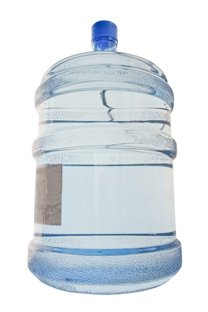 Full cooler bottle under the white background photo