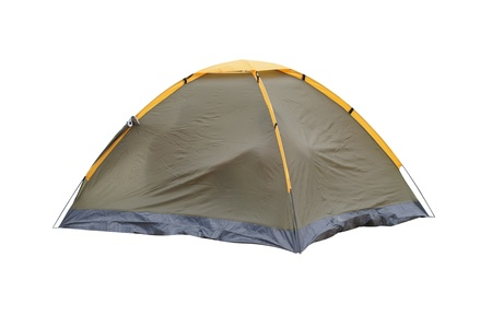 camping tent: The image of a tent under a white background