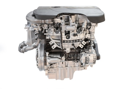 The image of an engine under the white background Stock Photo - 15383280