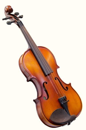 violin under the white background Stock Photo