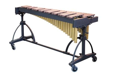 xilofono: La imagen de un xilófono bajo un fondo blanco