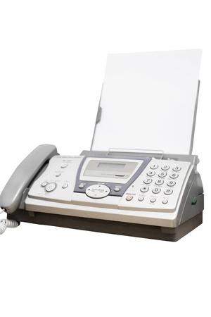 Fax unter den weißen Hintergrund