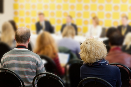 businessmen work at a conference Stock Photo - 15702645