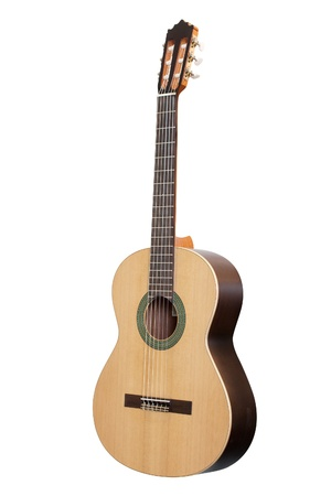 acoustic guitar: The image of a guitar under a white background