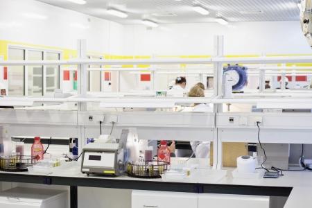bioteknik: Bilden av kemiska laboratorieutrustning Stockfoto