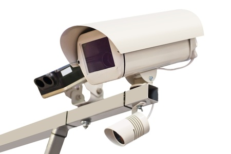 The image of surveillance camera photo