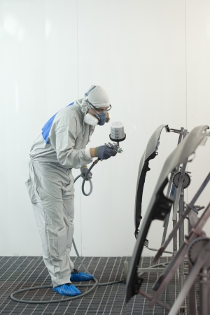 Painter paints the wing Stock Photo - 16545106