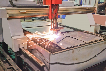 The image of a plasma cutting photo
