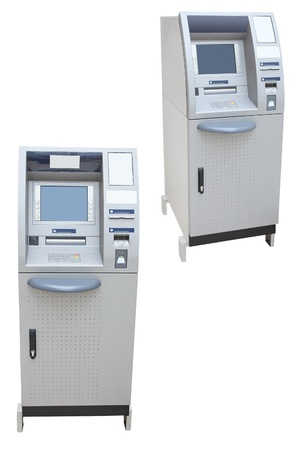 The image of a cash dispenser photo