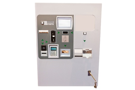 Parking machine under the white background Stock Photo - 17199284