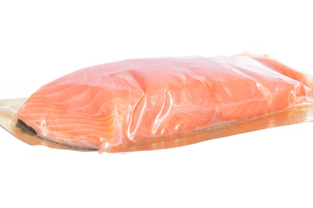 chum: piece of smoked fish in the plastic package