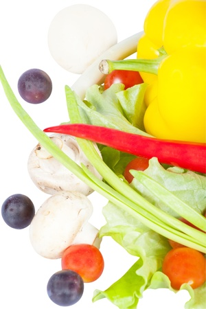 Vegetables under the white background. There is an empty for text  part of image Stock Photo - 17939273