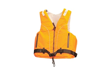 life jacket under the white background Stockfoto