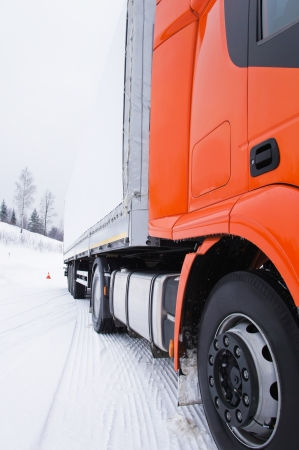 semitrailer: The image of tractor Stock Photo